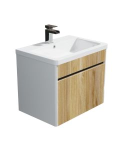Synergy 600mm Float Driftwood Vanity Wall Unit