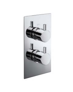 Synergy CV01B Concealed Round Handles Twin Shower Valve